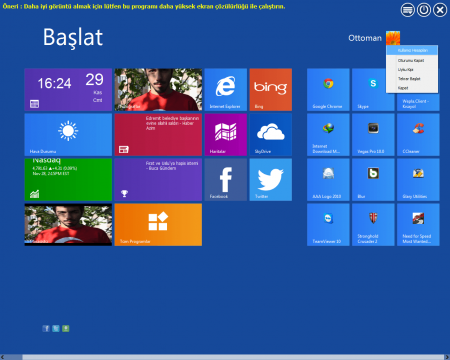 Windows 7 için Windows 8 Metro Teması indir