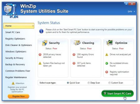 WinZip System Utilities Suite v2.7.1100.16470 Full