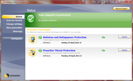 Symantec Endpoint Protection v12.1.7004.6500