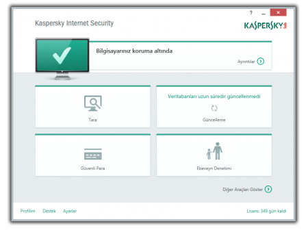 Kaspersky Internet Security 2015 v15.0 Türkçe