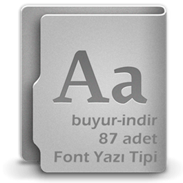 Buyur-indir 87 Adet Font Koleksiyonu