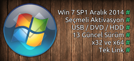 Windows 7 SP1 AIO (13in1) Aralık Güncel