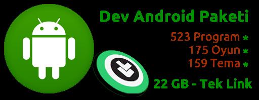 Dev Android Oyun, Program ve Tema Arşivi (Özel)