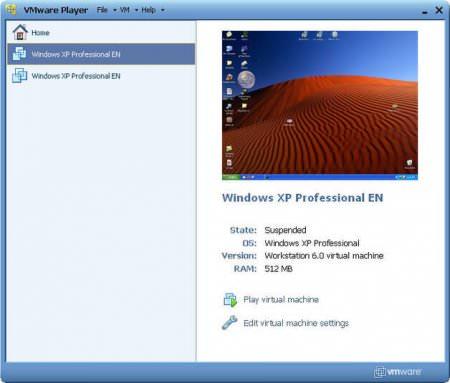 VMware Player v12.0.1