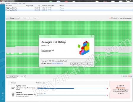 Auslogics Disk Defrag v5.1 Katılımsız