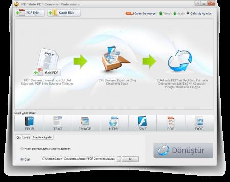 PDFMate PDF Converter Professional v1.73 Türkçe