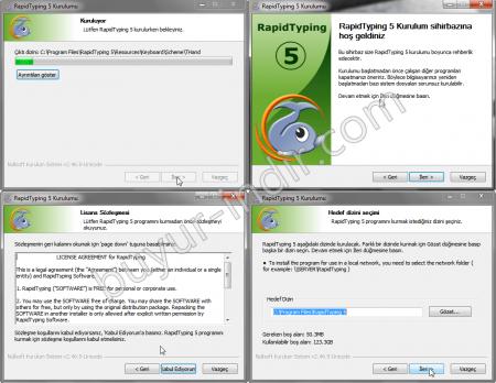 RapidTyping v5.0 Türkçe - On Parmak Klavye Programı