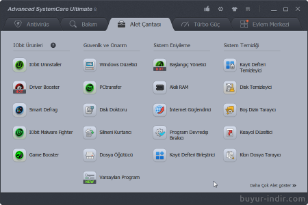Advanced SystemCare Ultimate v9.0.1.644 Türkçe