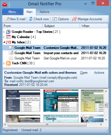 Gmail Notifier Pro v5.3