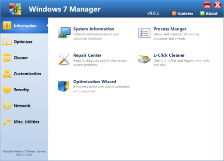 Yamicsoft Windows 7 Manager v5.1.9