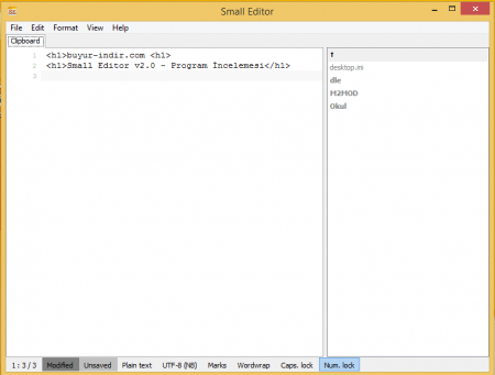 Small Editor - Program İncelemesi