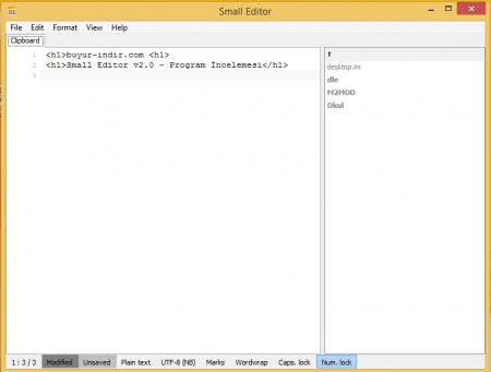 Small Editor - Program İncelemesi