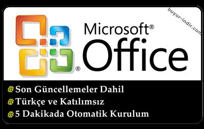 Office 2003 Türkçe + SP3 Son Sürüm + Katılımsız