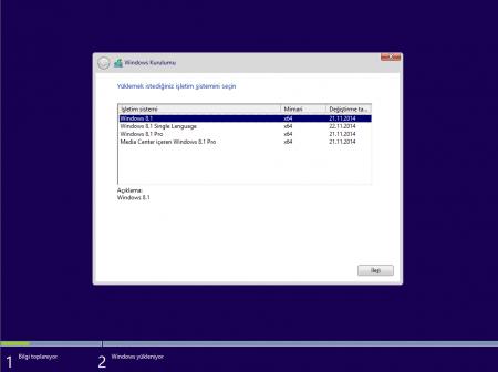 Windows 8.1 Update 3 (64 Bit - UEFI Destekli) Mart Güncel