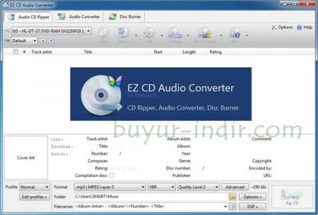 EZ CD Audio Converter v4.0.2.1 Türkçe