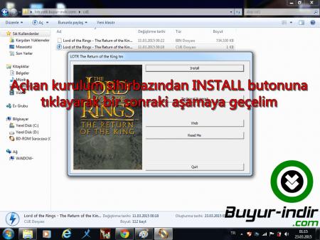 LOTR: Return of the King - Resimli Oyun Kurulumu