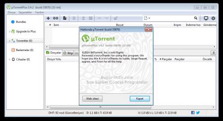 µTorrent Plus v3.4.7.42330 Türkçe Katılımsız