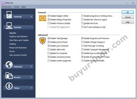 Crystal Office WinLock Pro v6.50 Türkçe Full