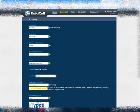 Raidcall v7.3.6 Türkçe