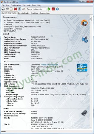 PassMark BurnInTest Pro v8.1 B1017