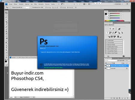 Adobe Photoshop CS4 Türkçe Full Katılımsız