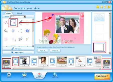 iPixSoft Flash Slideshow Creator v4.5.1.0 + İçerik Paketi