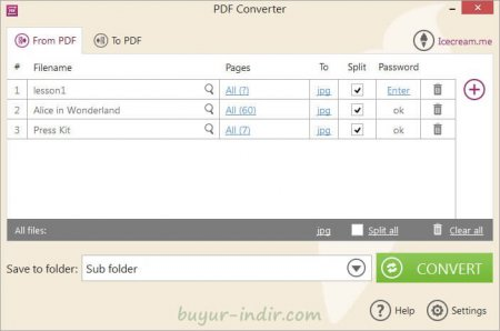 IceCream PDF Converter Pro v2.72 Türkçe
