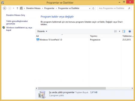 Windows 10 İkon Paketi Katılımsız