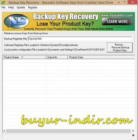 NsaSoft Backup Key Recovery v2.1.7
