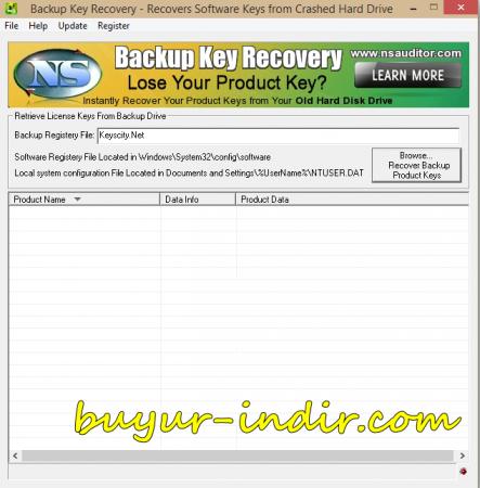 NsaSoft Backup Key Recovery v2.1.7