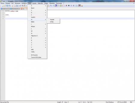 Notepad++ v6.8.6 Türkçe indir