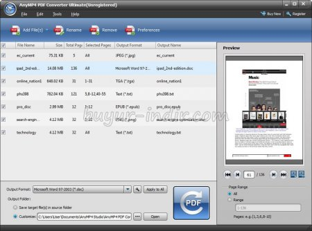 AnyMP4 PDF Converter Ultimate v3.3.6