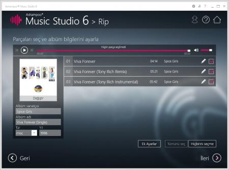 Ashampoo Music Studio v6.1.00.11 Türkçe
