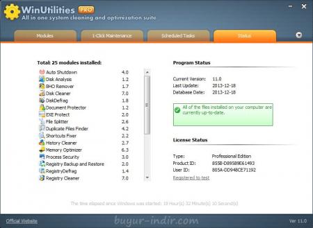 WinUtilities Professional v14.5 Türkçe