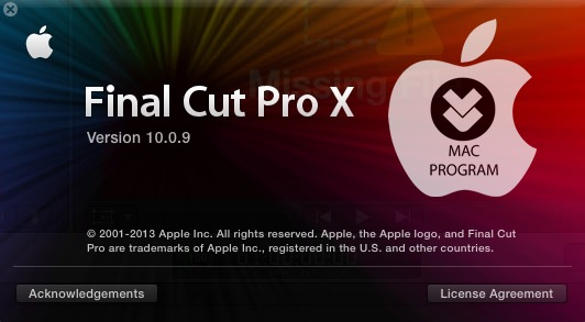 Final Cut Pro X 10.0.9 for MAC