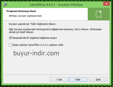 LibreOffice v5.4.0 Türkçe (x86 / x64)