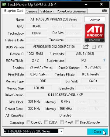 GPU-Z v0.8.9 Türkçe
