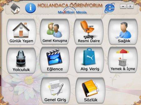 Hollandaca Öğreniyorum Görsel Eğitim Seti Türkçe