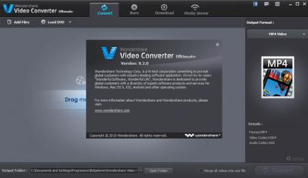 Wondershare Video Converter Ultimate v8.7.0.5 Katılımsız