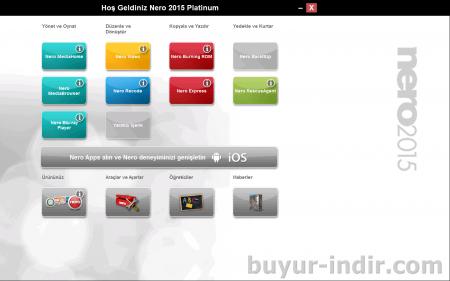 Nero Platinum 2015 v16.0 Türkçe