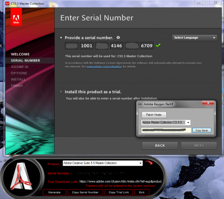 serial number adobe creative suite 5 master collection trial