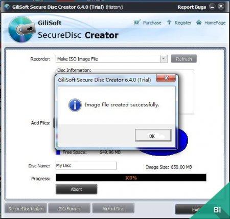 GiliSoft Secure Disc Creator v7.1.0