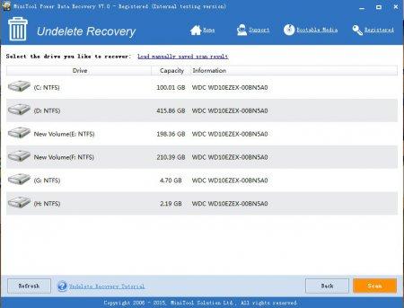 MiniTool Power Data Recovery v7.0.0.0