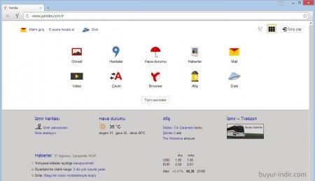 Yandex Browser v15.4 Türkçe