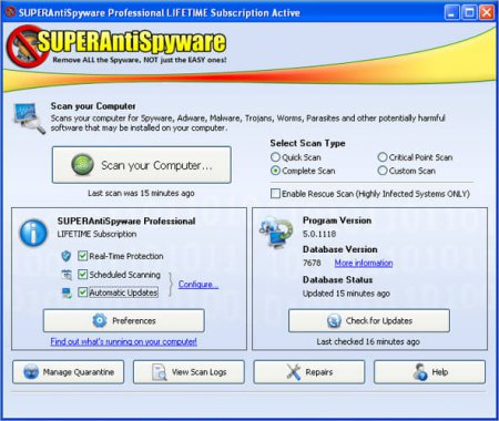 SUPERAntiSpyware Professional v6.0.1212 Full indir