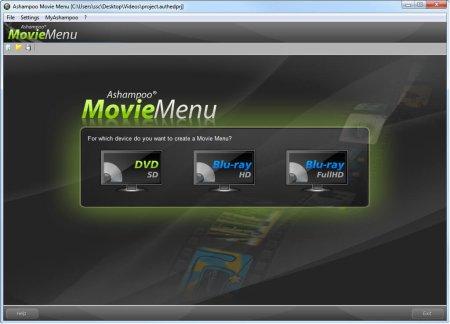 Ashampoo MovieMenu v1.0.1 Türkçe