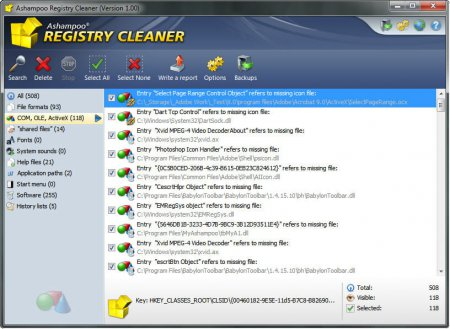 Ashampoo Registry Cleaner v1.00 Türkçe