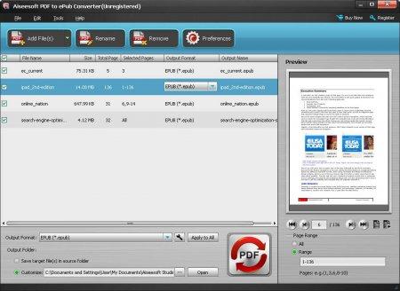 Aiseesoft PDF to ePub Converter v3.2.30