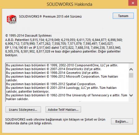 SolidWorks Premium 2015 SP4 Türkçe Full (x64)