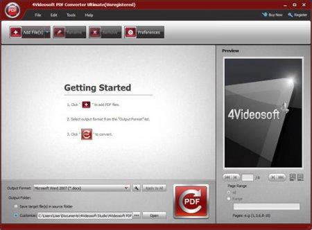 4Videosoft PDF Converter Ultimate v3.2.6